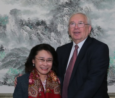 Vladimir  Lukin met with the President of NPC of China, President of the International organization of rehabilitation of the disabled, Heidi Zhang in Beijing.