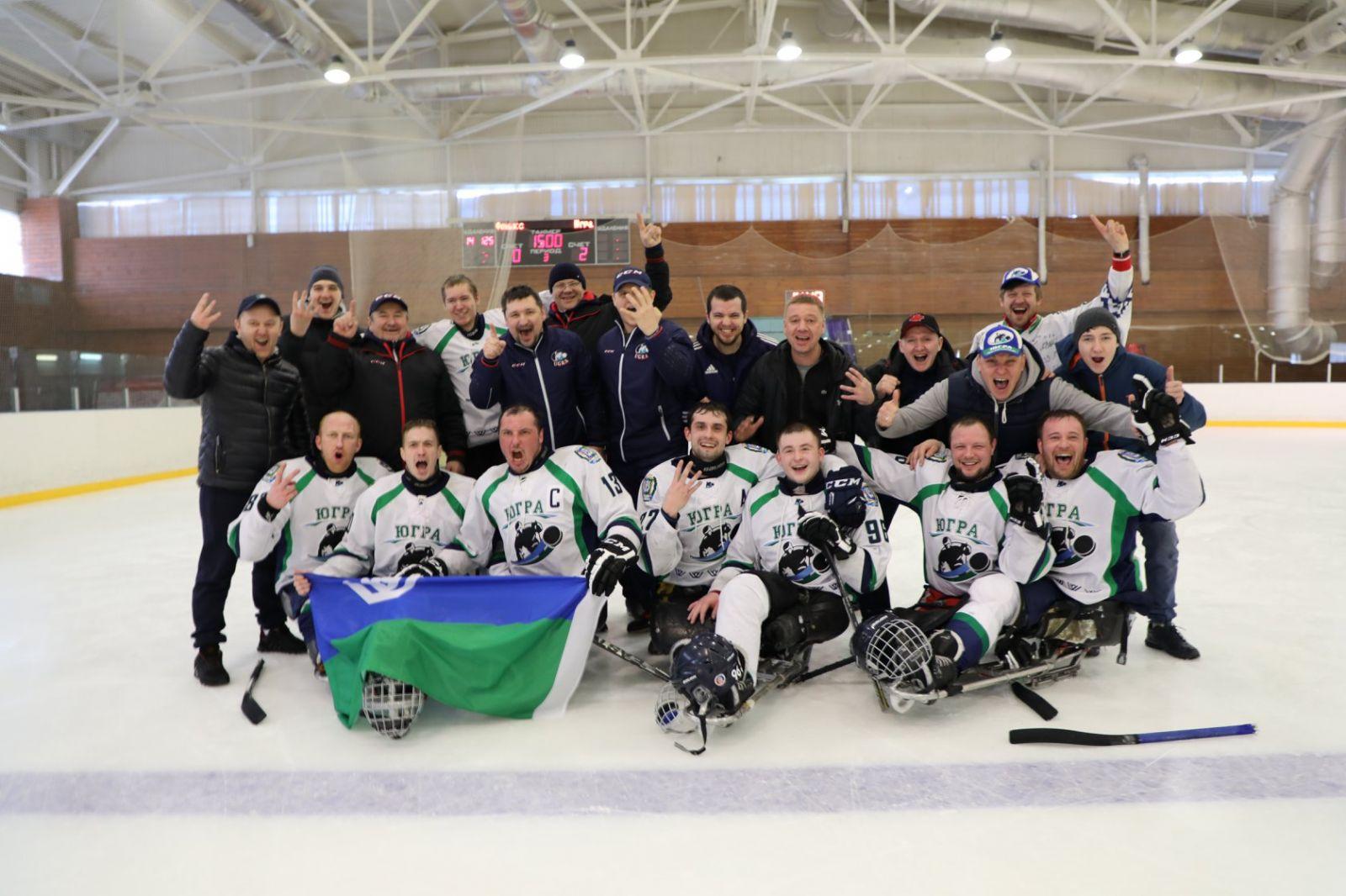 Следж-хоккейный клуб «Югра» стал победителем чемпионата России в спортивном сезоне 2018/2019 года