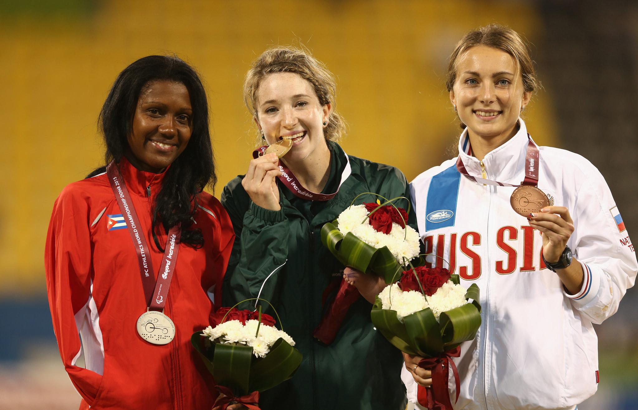 Российский легкоатлеты выиграли 1 золото, 1 серебро и 2 бронзы в пятый день чемпионата мира IPC в Катаре
