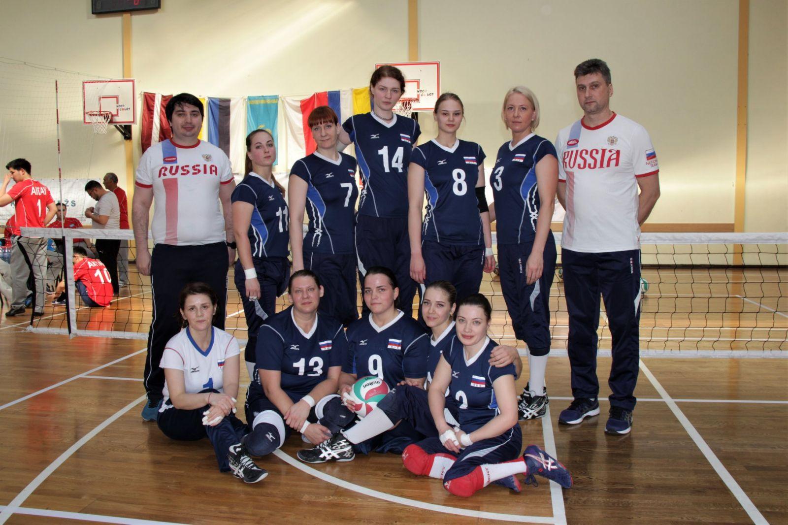 Женская сборная команда России по волейболу сидя заняла 6-е место на международных соревнованиях «Кубок Риги»