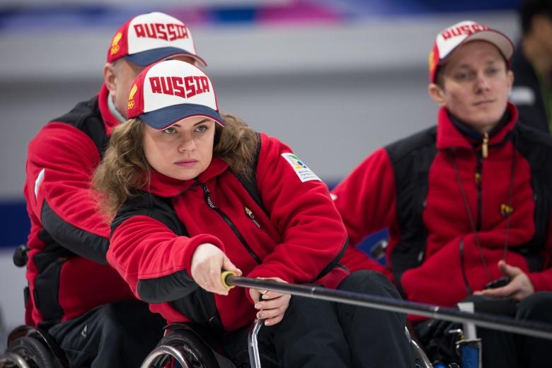 Сборная команды России выиграла 3 игры по итогам двух дней чемпионата мира по керлингу на колясках в г. Пхенчхане