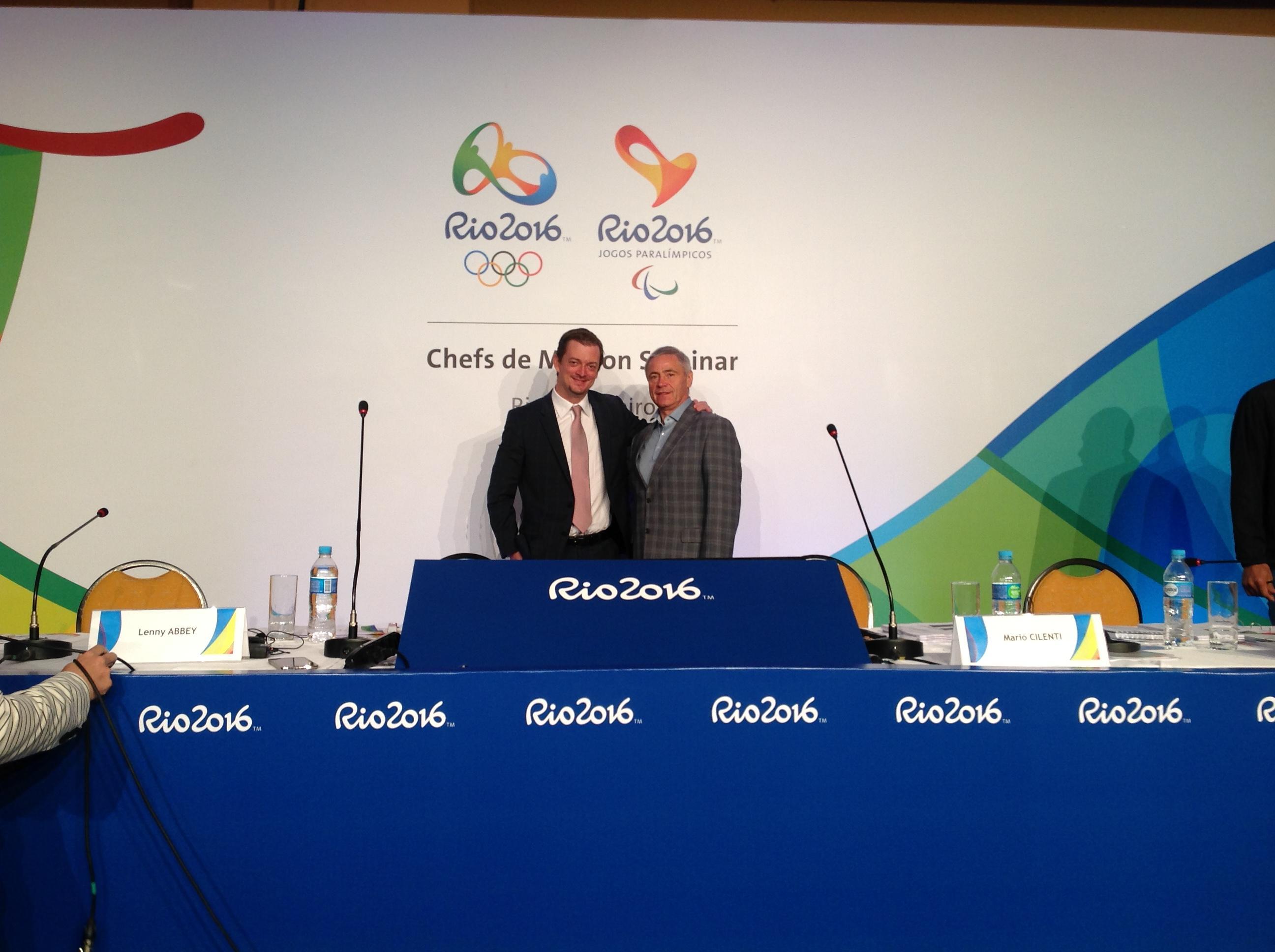 П.А. Рожков и вице-президент Международного паралимпийского комитета, президент Паралимпийского комитета Бразилии Эндрю Парсонс в г. Рио-де-Жанейро обсудили вопросы совместной работы по развитию паралимпийского спорта в России и Бразилии