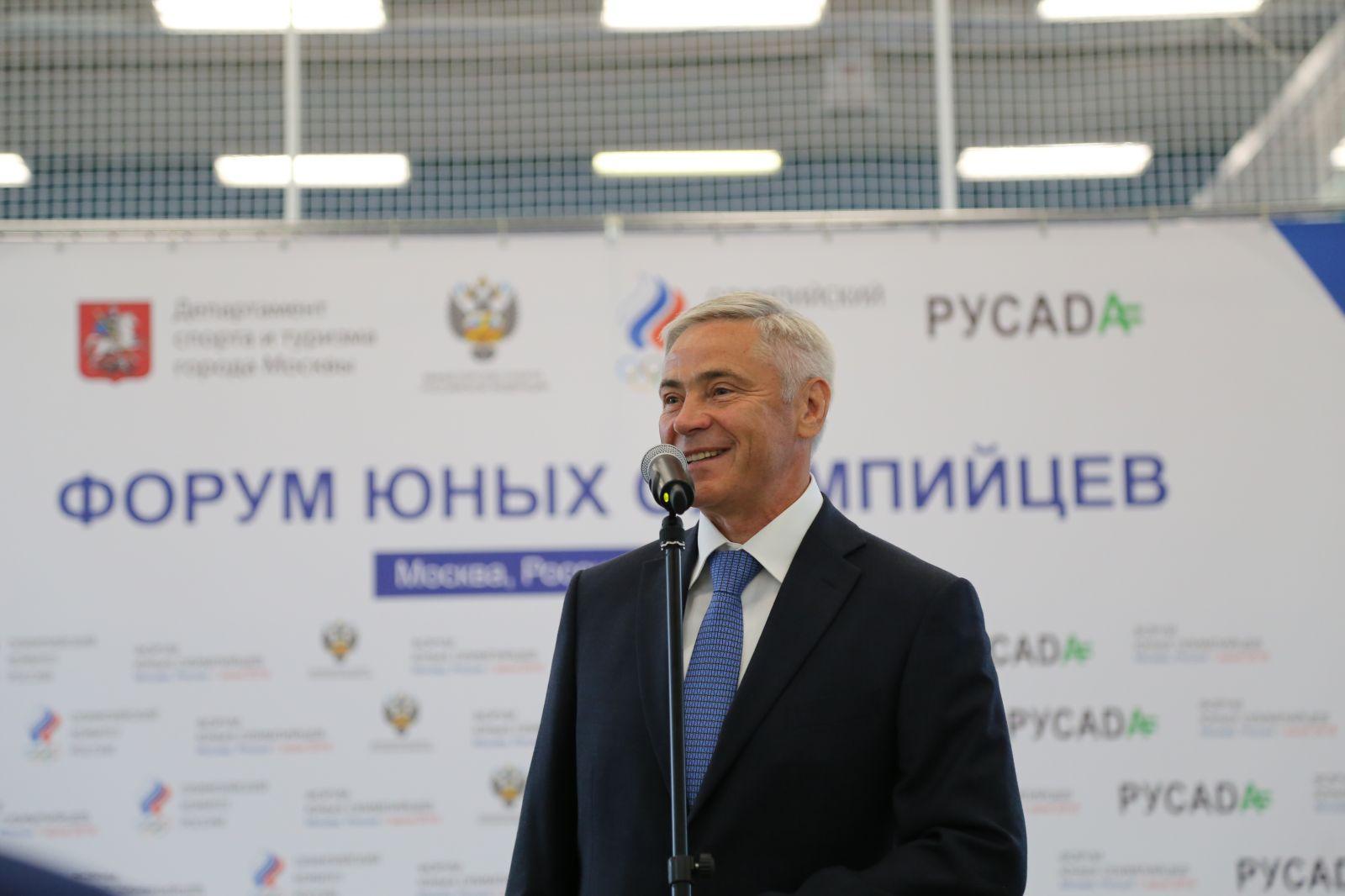 П.А. Рожков в Международный день защиты детей в Центре спортивных технологий Москомспорта принял участие в Форуме юных олимпийцев