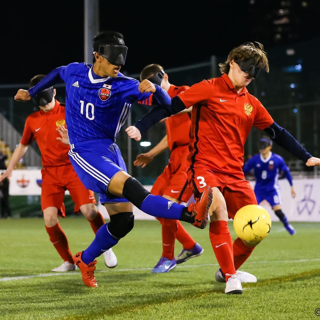 Сборная команда России по мини-футболу 5х5 класс В1 (тотально-слепые спортсмены) приняла участие в международных соревнованиях в Японии