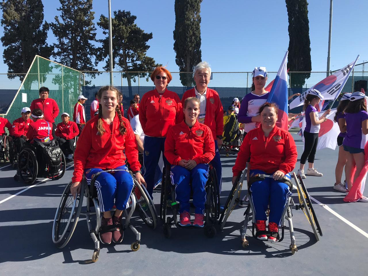 Женская сборная команда России по теннису на колясках заняла 9 место на Кубке мира в Израиле