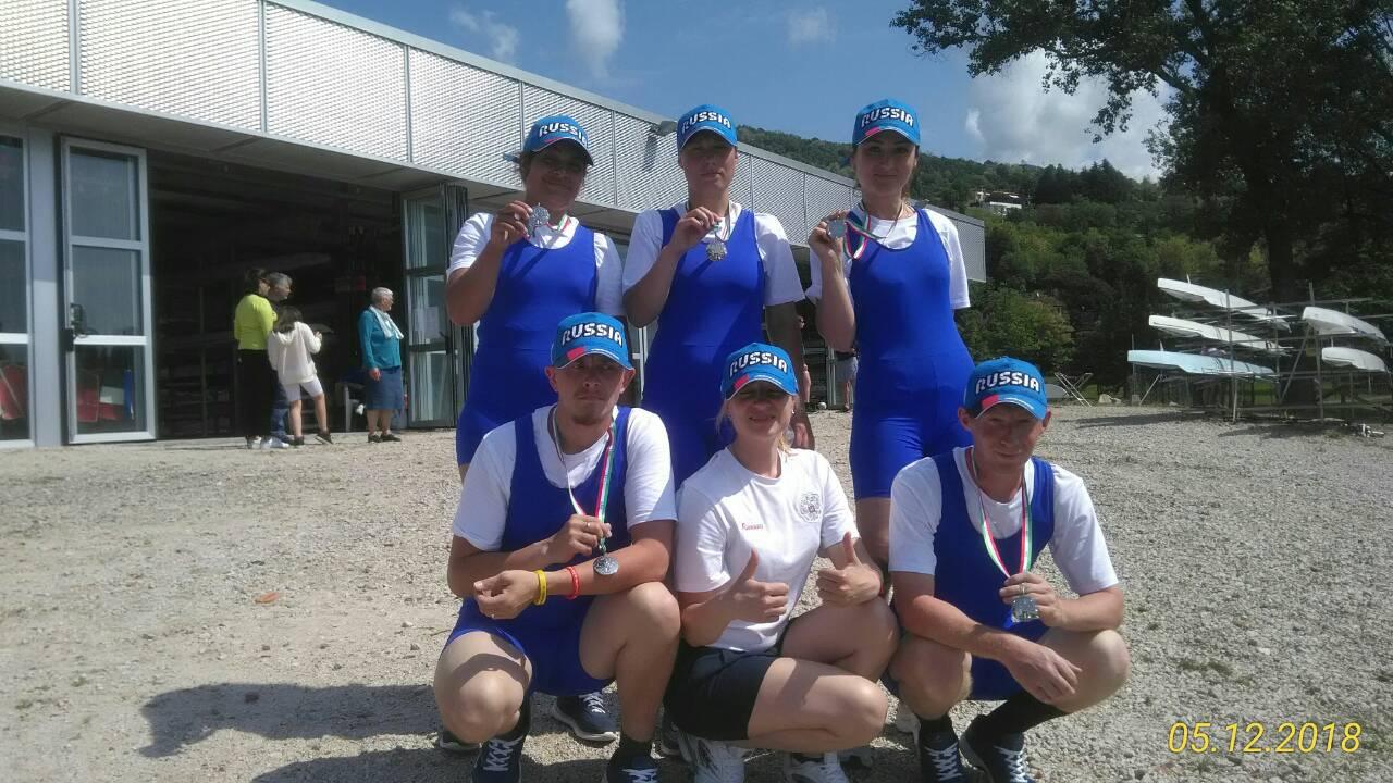 Сборная команда России по академической гребле спорта лиц с ИН завоевала серебряные медали на XII Международной регате инвалидов в Италии