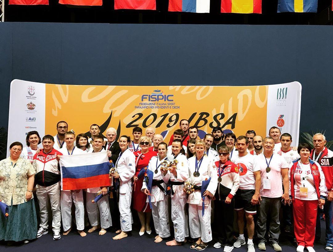 Сборная команда России по дзюдо спорта слепых стала второй в общекомандном зачете чемпионата Европы в Италии