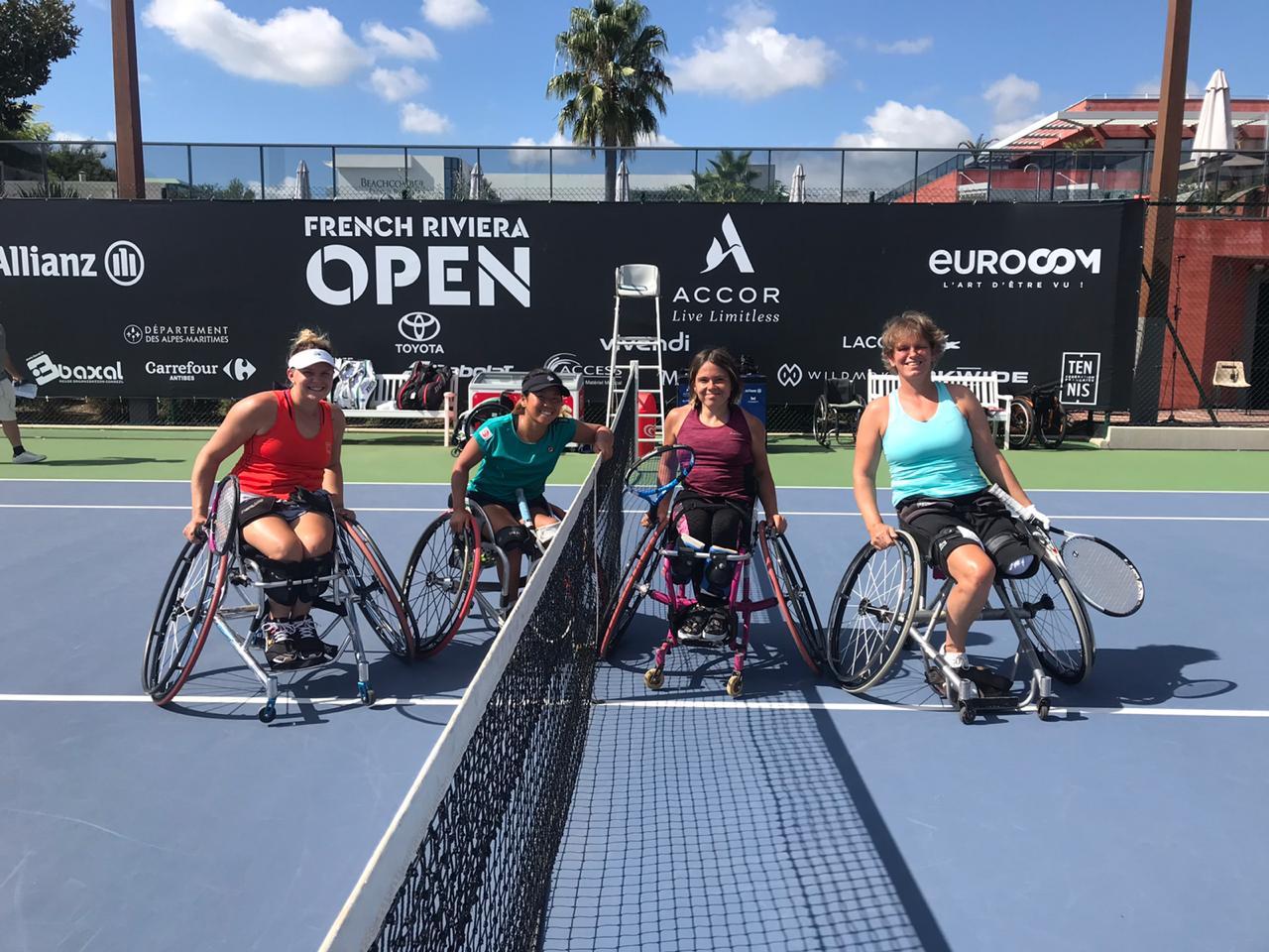 Полина Шакирова стала бронзовым призером в парном разряде на международном турнире по теннису на колясках «French Riviera Open»