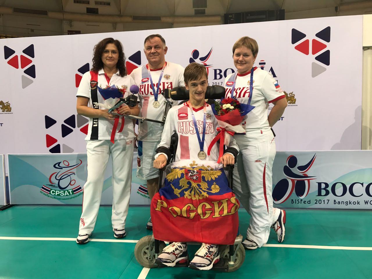 Россиянин Михаил Васильев стал серебряным призером крупного международного турнира по бочча в Таиланде