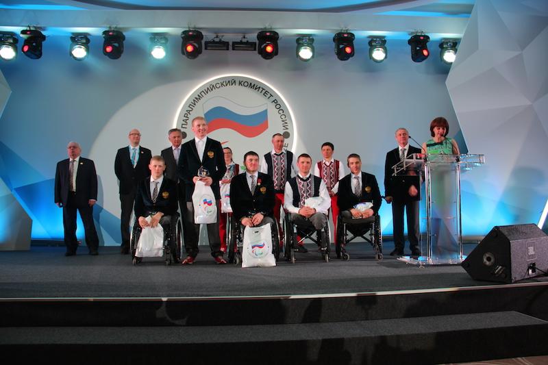 В г. Сочи состоялся торжественный прием чемпионов и призеров XI Паралимпийских зимних игр 2014 года и их тренеров