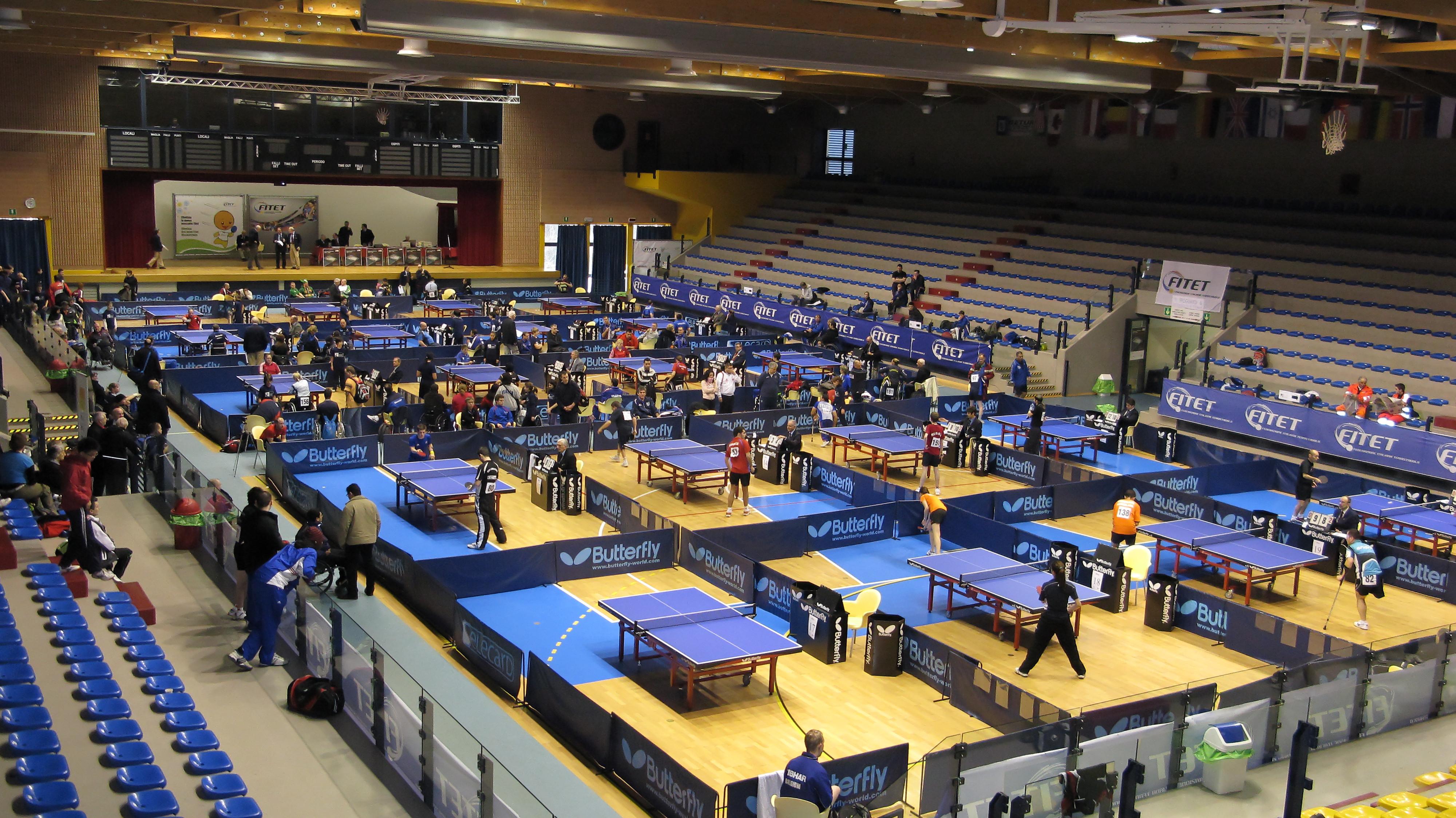 Россияне приняли участие в международных стартах по настольному теннису среди спортсменов с поражением опорно-двигательного аппарата в Италии