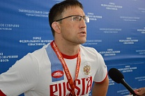 #trainingtogether with the Paralympic Games champion in Para Swimming among PI Athletes Dmitriy Kryzhanovskiy