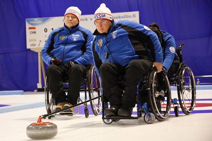 Сборная команда России по керлингу на колясках одержала 2 победы в 3-ий игровой день чемпионата мира в Финляндии