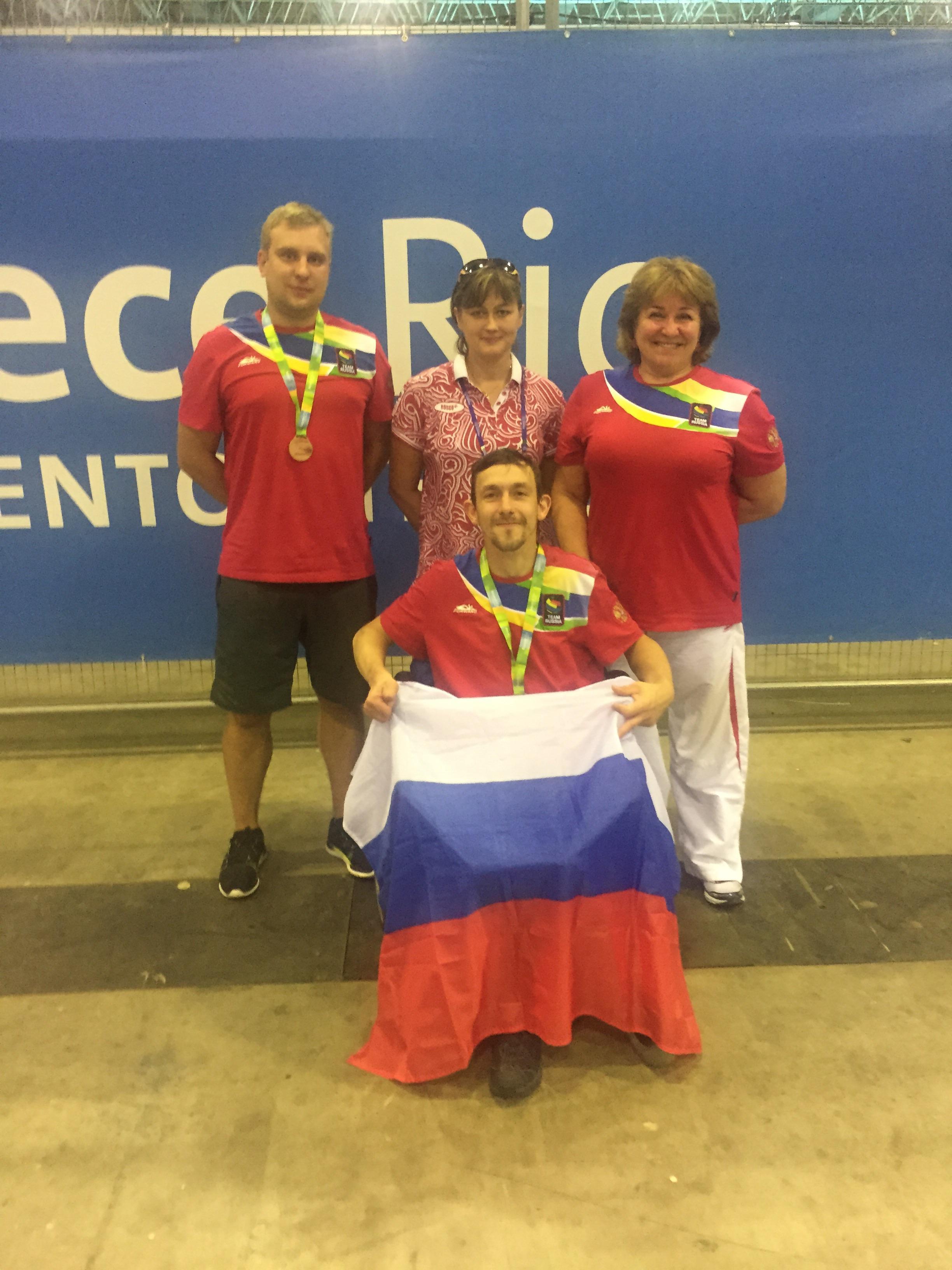 Россиянин Михаил Гутник завоевал бронзовую награду на тестовых соревнованиях Паралимпийских игр-2016 в Бразилии по бочча