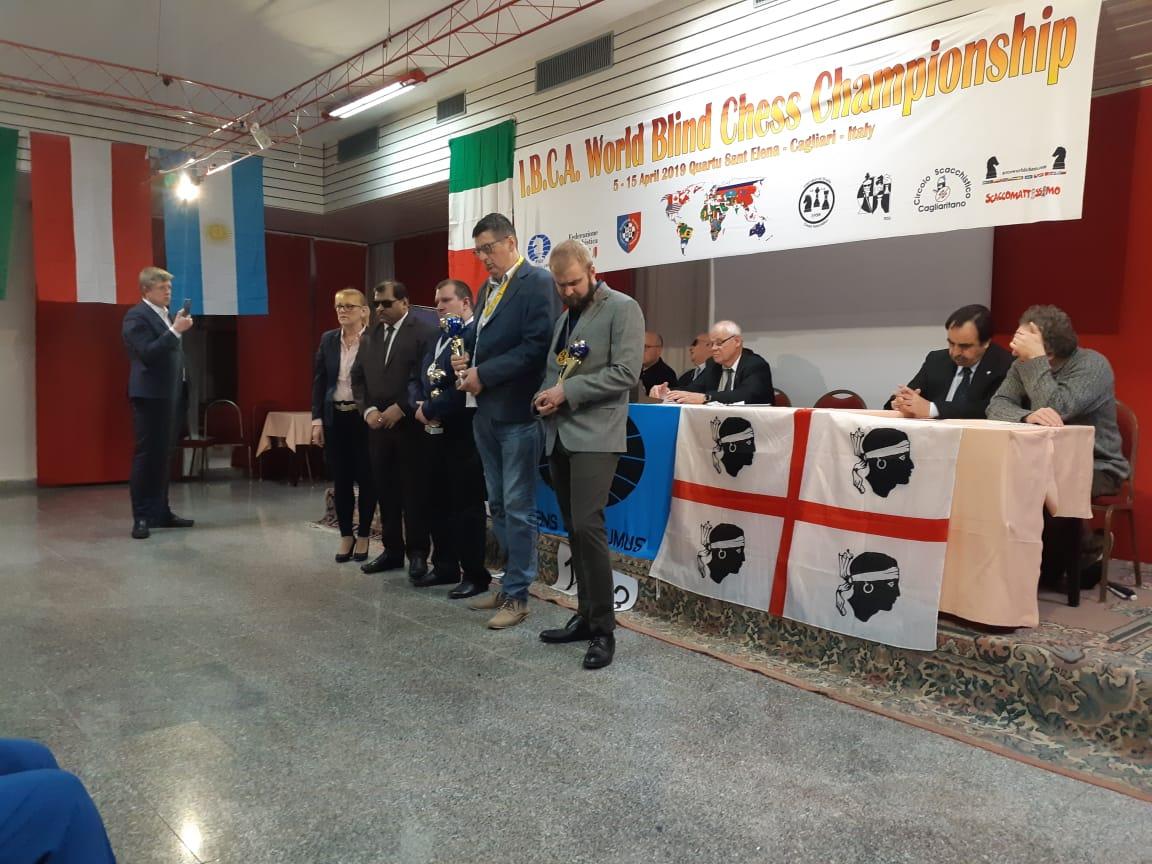 Представитель Пермского края Алексей Смирнов завоевал серебряную медаль на чемпионате мира по шахматам спорта слепых в Италии