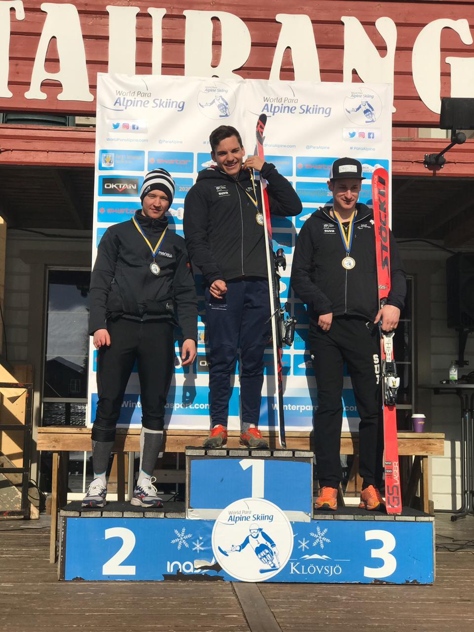 Российские спортсмены завоевали 5 золотых, 3 серебряные и 2 бронзовые медали по итогу 2 дней финального этапа Кубка Европы по горнолыжному спорту среди лиц с ПОДА и нарушением зрения в Швеции