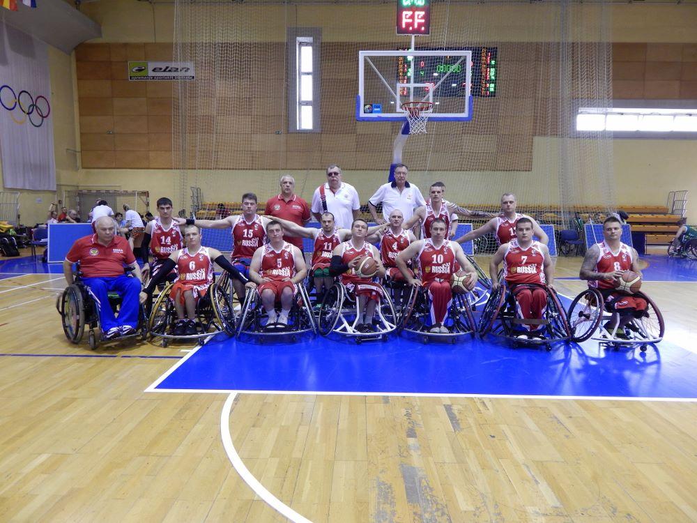 Сборная команда России по баскетболу на колясках заняла 4 место в группе В на чемпионате Европы в Боснии и Герцеговине
