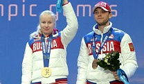 The member of the Russian National Alpine Skiing Team Alexandra Frantcheva won gold medal among athletes with visual impairments .