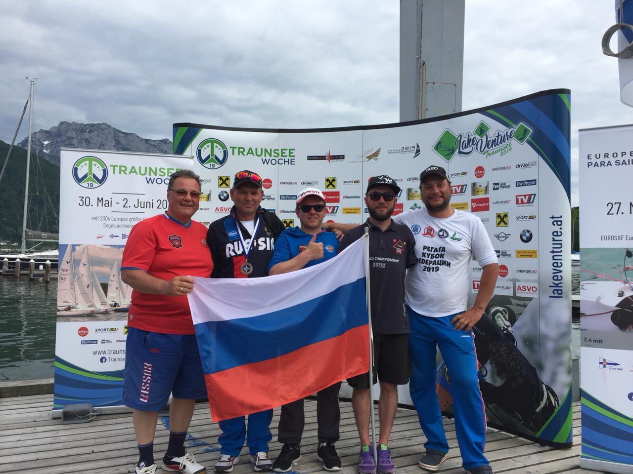 Сборная команда России по парусному спорту лиц с ПОДА завоевала бронзовую медаль на чемпионате Европы в Австрии