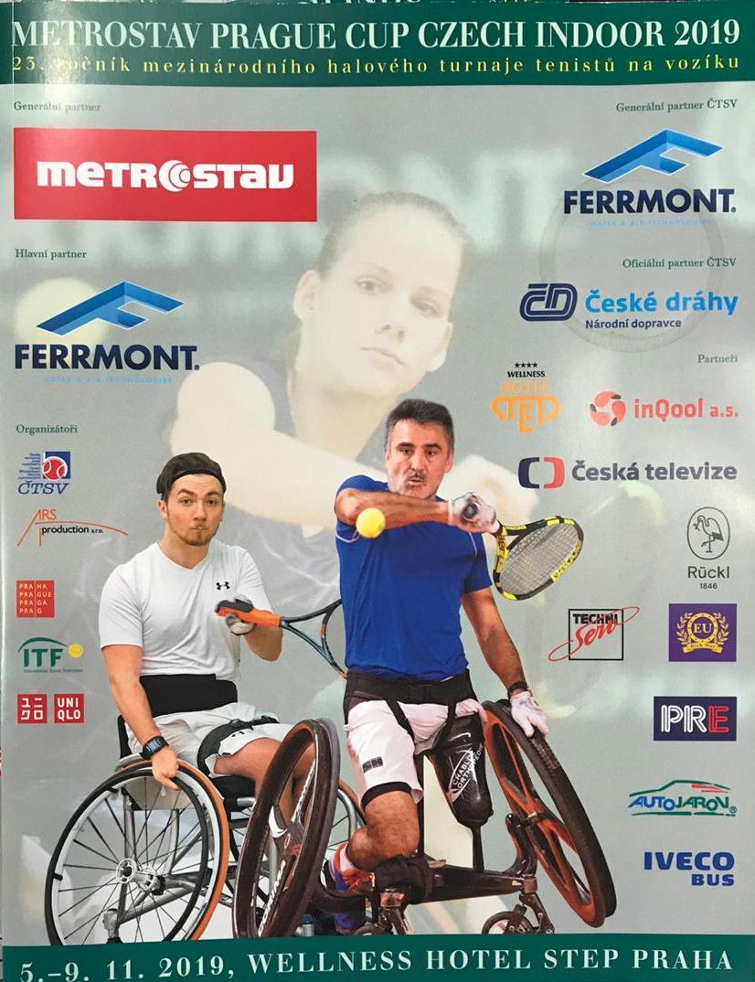 3 российских спортсмена принимают участие в международном турнире по теннису на колясках Prague Cup Czech Indoor