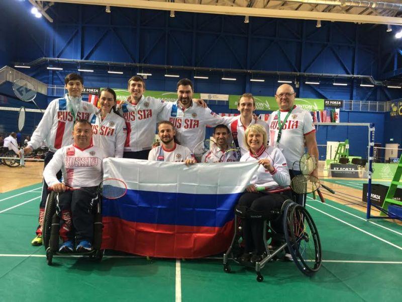 Россияне выиграли серебро и две бронзы на международных стартах по парабадминтону в Ирландии