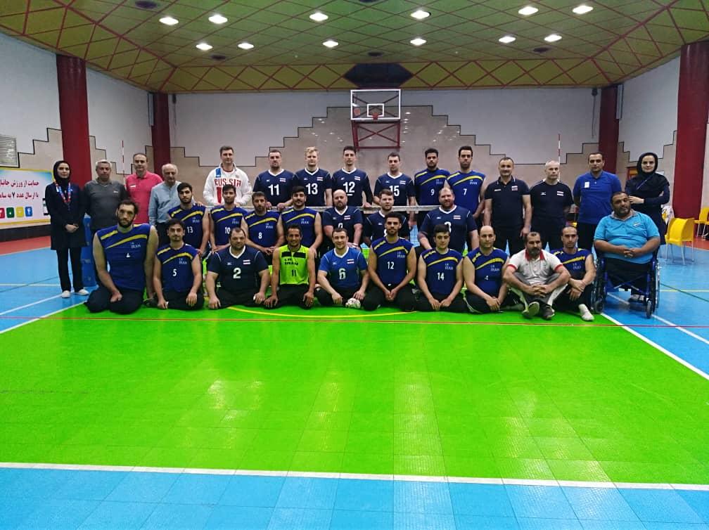 Мужская сборная команда России по волейболу сидя проводит совместной тренировочный сбор со сборной Ирана, самой титулованной командой мира