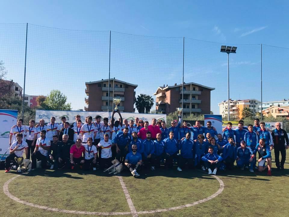 Российские спортсмены завоевали бронзовые медали на международных соревнованиях по мини-футболу 5х5 класс В1 (тотально-слепые спортсмены) в Италии
