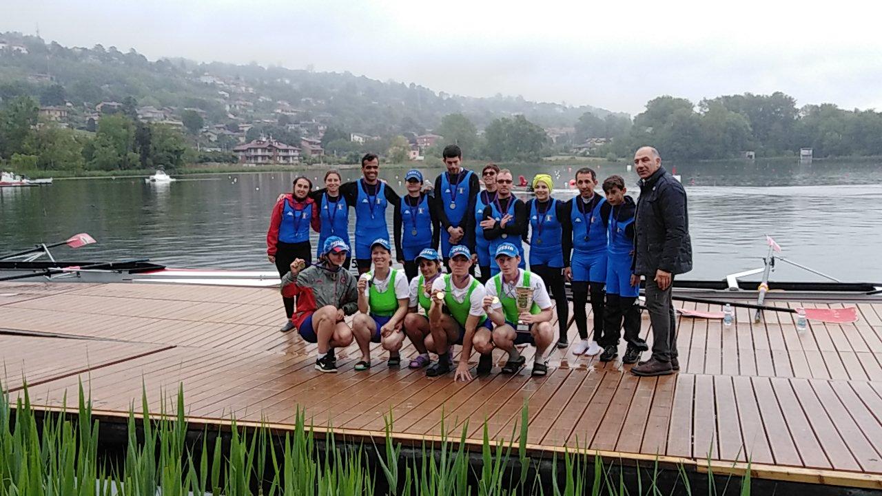 Сборная команда России по академической гребле спорта лиц с ИН стала победителем международных соревнований - 13th Gavirate International Para-Rowing Regatta