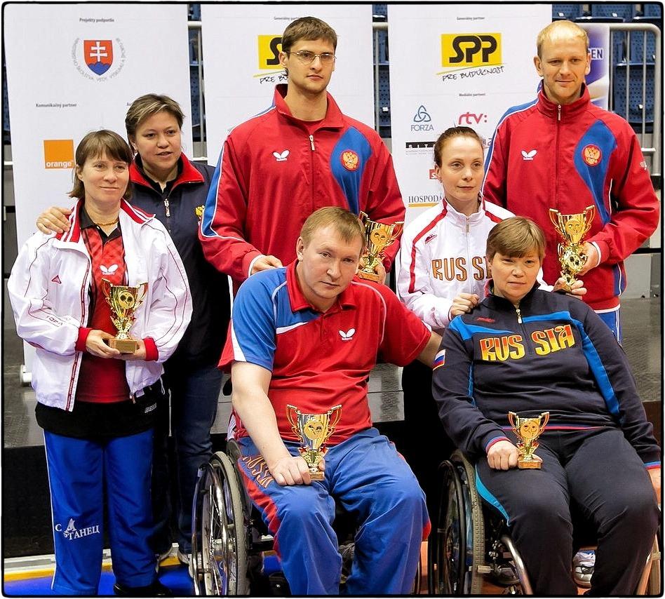 11 медалей Российской команды по настольному теннису на турнире в Братиславе