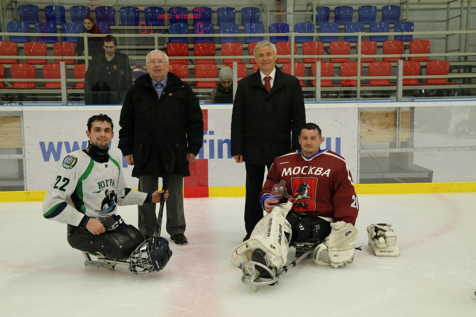 В.П. Лукин, П.А. Рожков приняли участие в просмотре соревнований по хоккею-следж Открытых Всероссийских соревнований по видам спорта, включенным в программу XII Паралимпийских зимних игр 2018 года в г. Пхенчхан (Республика Корея)
