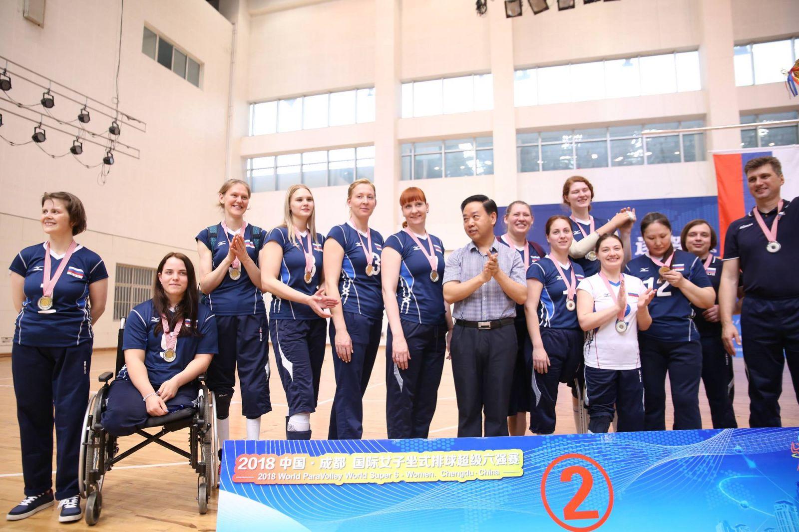 Женская сборная команда России по волейболу сидя стала серебряным призером международного турнира World Super 6 в Китае
