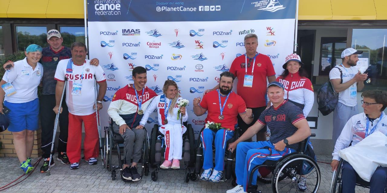 3 золотые и 4 бронзовые медали завоевала сборная команды России по гребле на байдарках и каноэ на Кубке мира в Польше