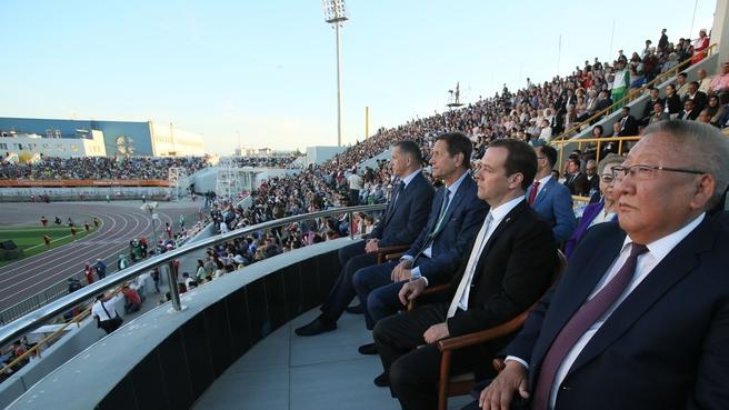 Р.А. Баталова в г. Якутске (Республика Саха (Якутия)) приняла участие в церемонии открытия VI Международных спортивных игр «Дети Азии»