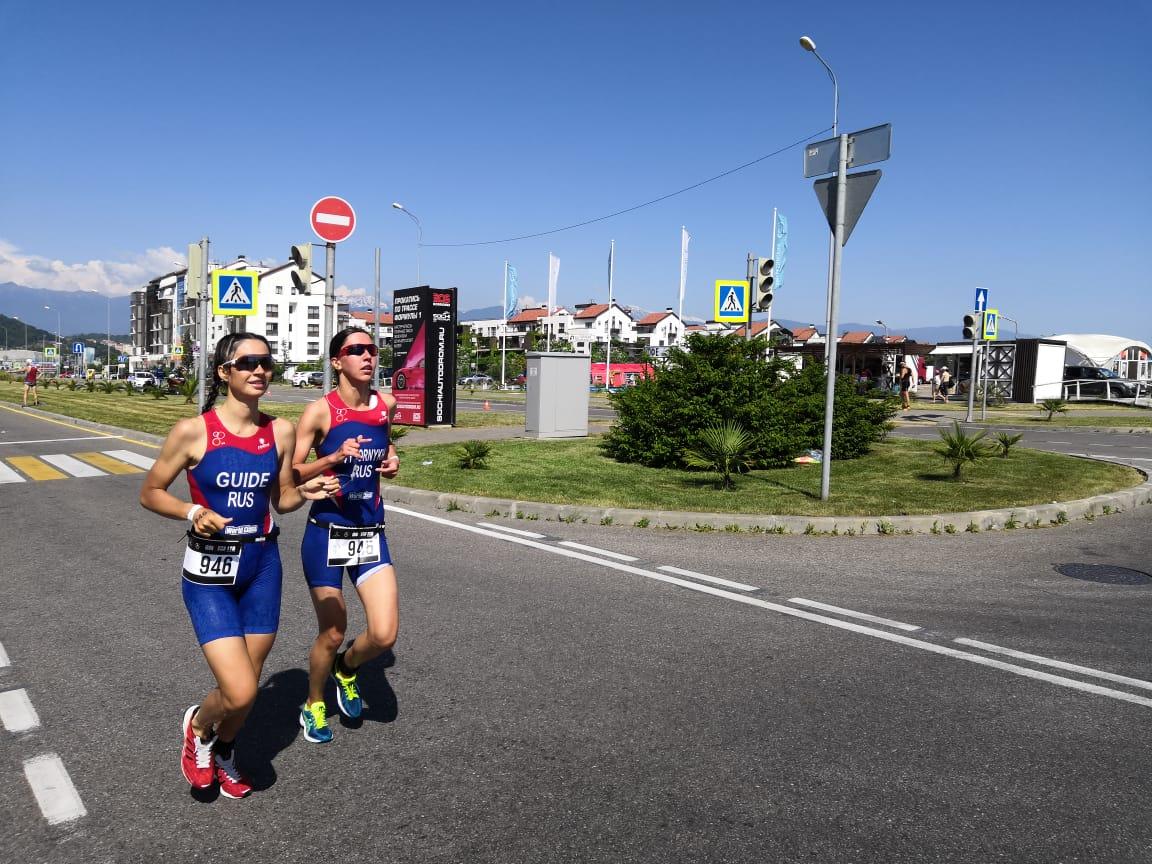 В Сочи определены победители первого чемпионата России по паратриатлону спорта слепых