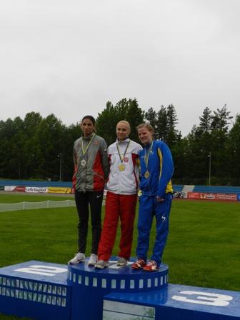 На чемпионате Европы по легкой атлетике среди спортсменов с интеллектуальными нарушениями   россиянка Крестина Жукова завоевала серебряную медаль