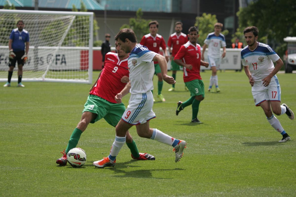Сборная России одержала вторую крупную победу кряду на чемпионате мира по футболу 7x7 в Англии