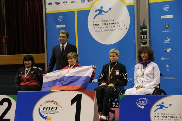 В г. Линьяно-Саббьядоро (Италия) завершился чемпионат Европы по настольному теннису спорта лиц с поражением опорно-двигательного аппарата и интеллектуальными нарушениями. Сборная команда России на чемпионате Европы завоевала одну золотую, пять серебряных