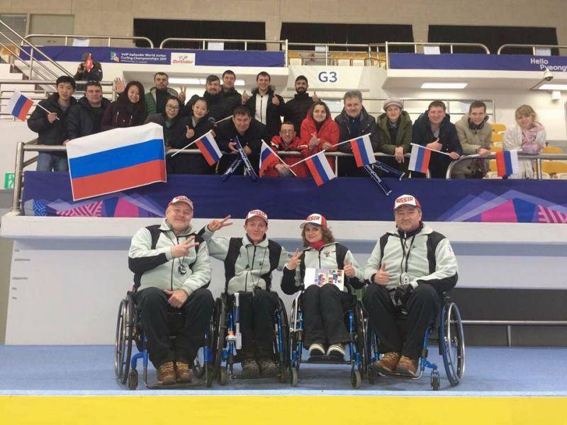 Сборная команда России досрочно вышла в плей-офф чемпионата мира по керлингу на колясках