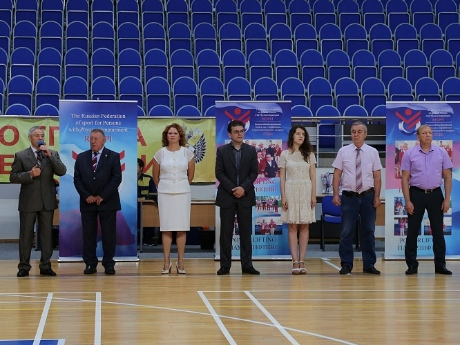 Pavel Rozhkov, Lev Seleznev, Olga Semenova participated in Opening Ceremony of the National Summer Youth Spartakiade Games for persons with physical impairments in Ramenskoe (male, female juniors 14-18 years old)