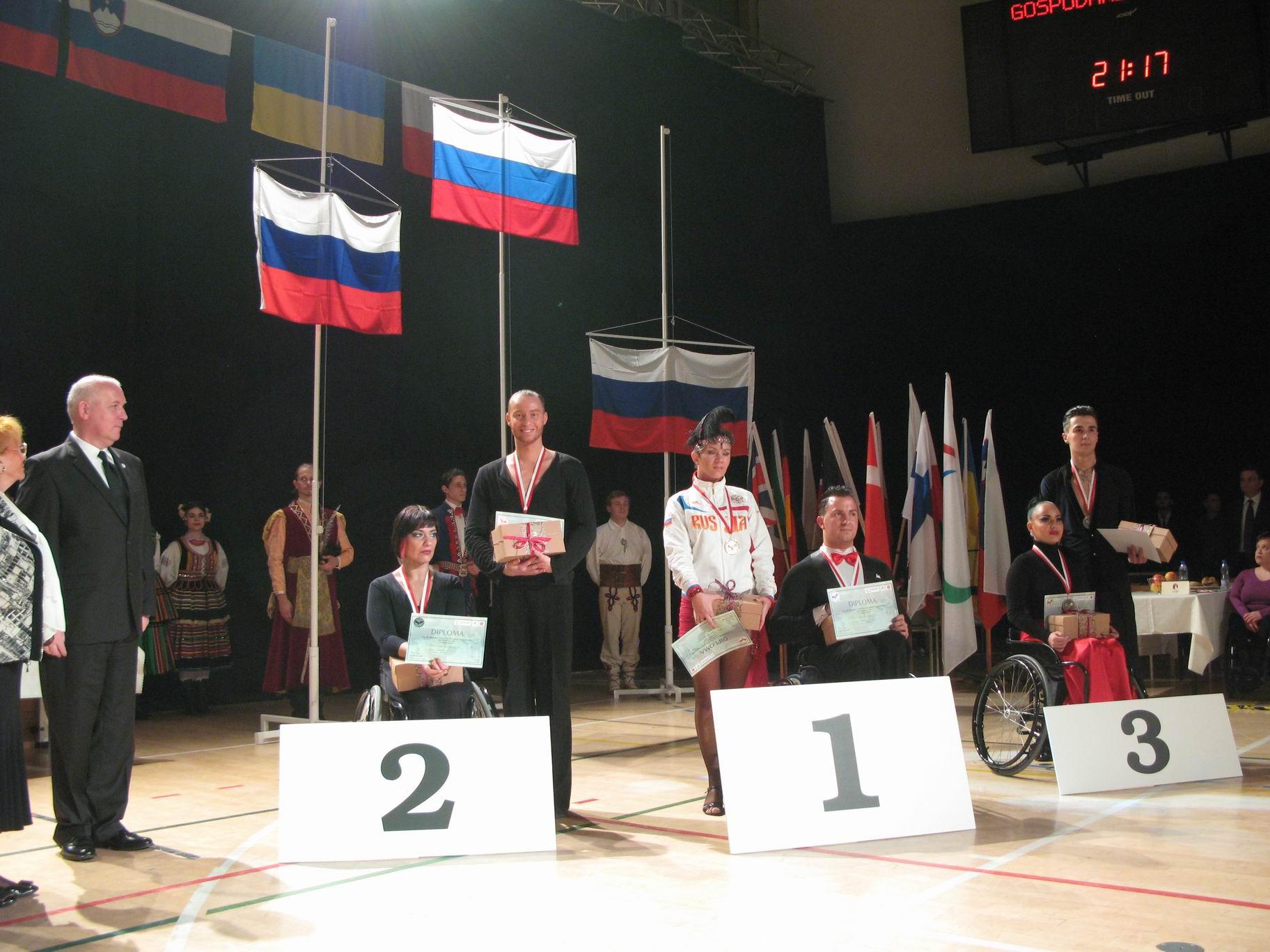 Сборная команда России  завоевала 16 медалей на чемпионате Европы по танцам на колясках в Польше