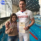 #trainingtogether with the Russian Championships 2020 prize winner in Para Swimming among PI Athletes Alina Golosova