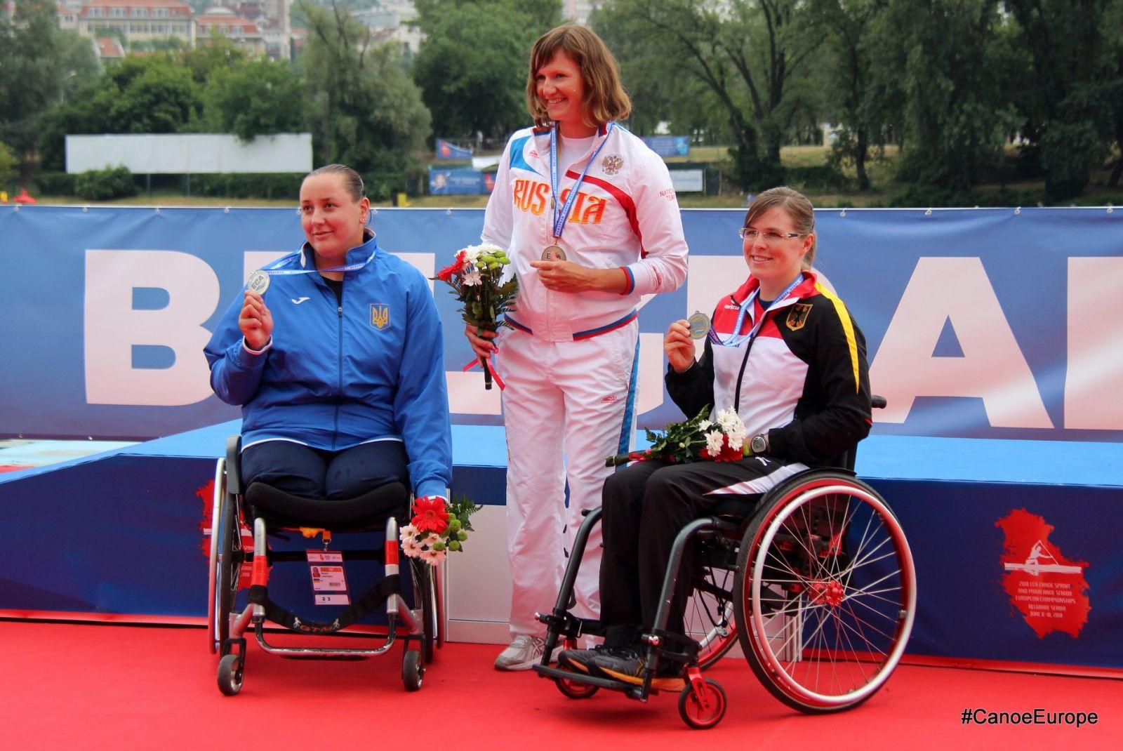 1 золотую, 3 серебряные и 3 бронзовые медали завоевали российские параканоисты на чемпионате Европы в Сербии
