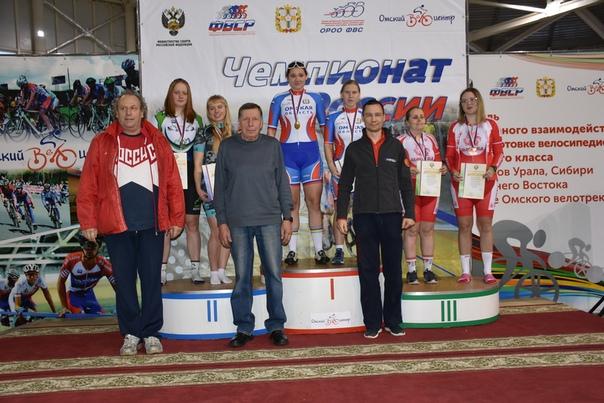В Омске определены победители и призеры чемпионата России на треке по велоспорту-тандем спорта слепых
