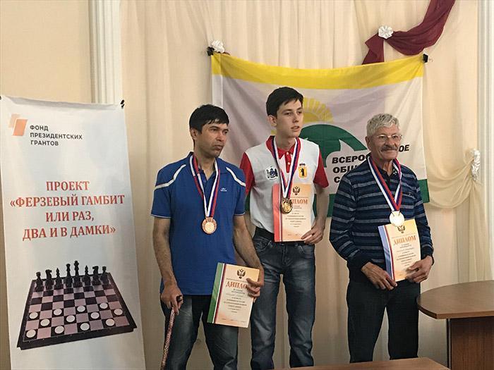 Итоги чемпионата России по стоклеточным шашкам среди спортсменов с нарушением зрения