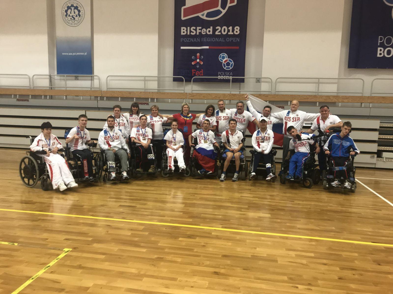 3 золотые, 2 серебряную и 1 бронзовую медали завоевали российские спортсмены на международных соревнованиях по бочча в Польше