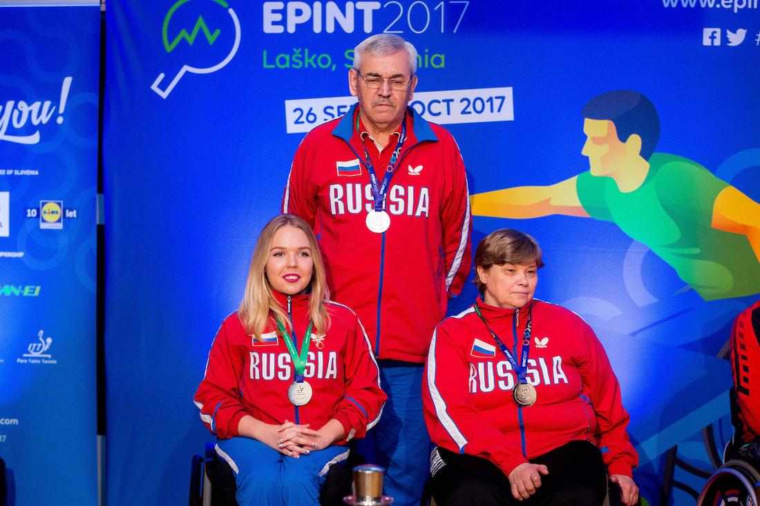 Спортсмены сборных команд России завоевали 3 золотые, 2 серебряные и 6 бронзовых медалей на чемпионате Европы по настольному теннису спорта лиц с ПОДА и ИН в Словении
