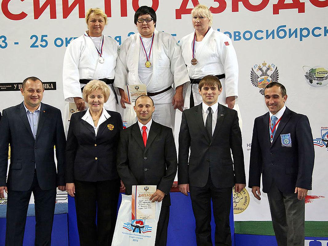 Названы победители и призеры чемпионата России по дзюдо среди спортсменов с нарушением зрения