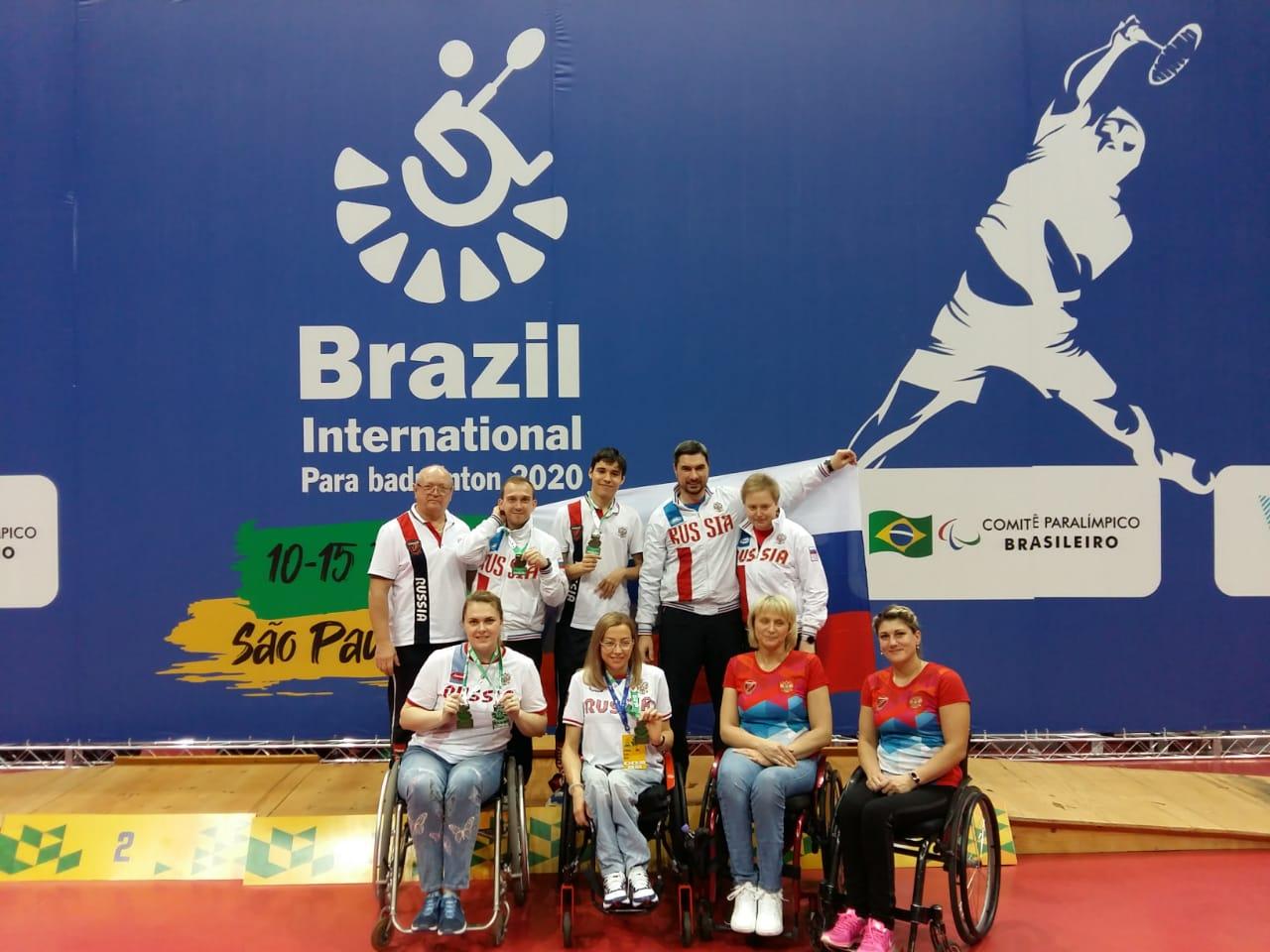 1 серебряную и 2 бронзовые медали завоевала сборная команда России по бадминтону спорта лиц с ПОДА на международных соревнованиях в Бразилии