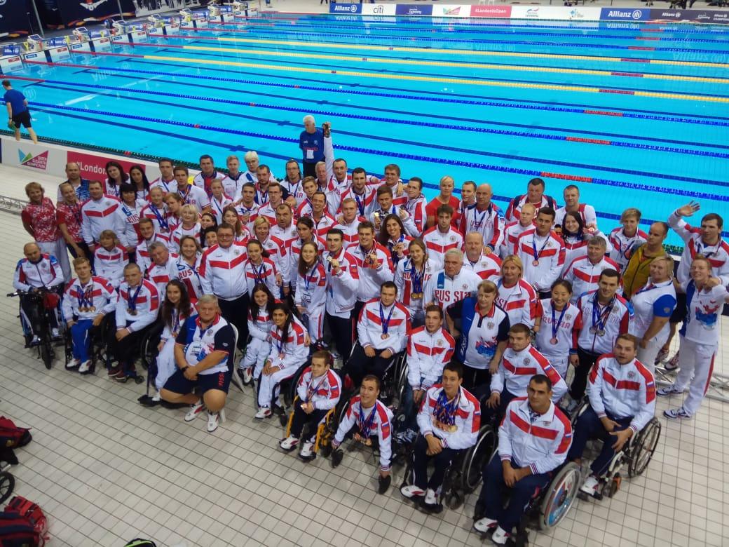 Российские спортсмены завоевали 18 золотых, 15 серебряных и 21 бронзовую медалей на чемпионате мира по плаванию МПК в Лондоне