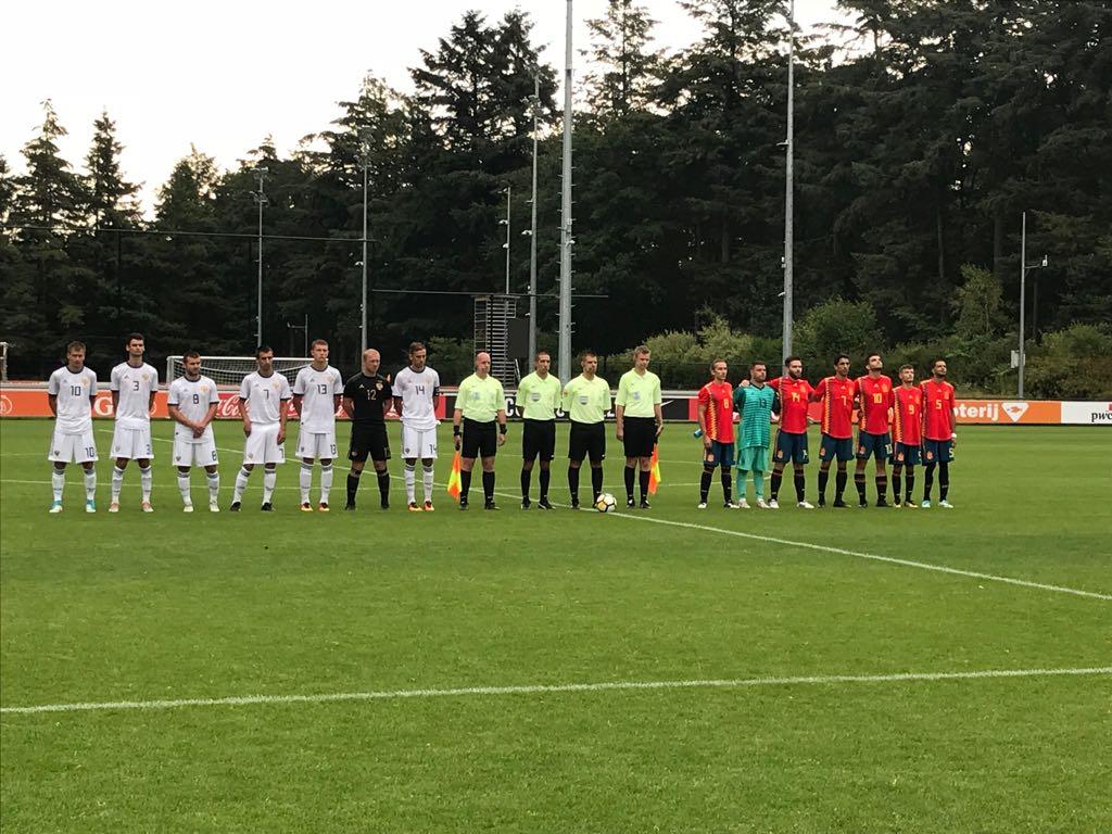 Сборная команда России по футболу 7х7 спорта лиц с заболеванием ЦП выиграла у сборной Испании со счетом 5-0 в первом матче на чемпионате Европы в Нидерландах